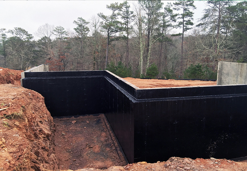 The Use Of Bituminous Products Is A Standard Solution For Positive Side Waterproofing Foundations Retaining Walls